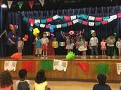 Ms. Zamarron's Pillow PreK class performs Tres Pececitos at our Diez y Seis celebration!