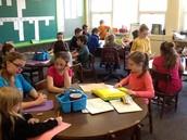 This week we met our 1st Grade reading buddies!!