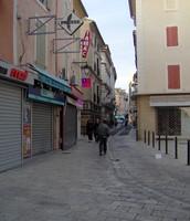 Street scene in Orange, France