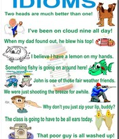Here are some examples of Idioms with pictures.