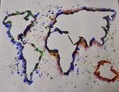 Splatter Negative Maps - geography/social studies