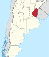 Mapa de la provincia de Entre Ríos