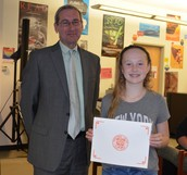 East Student Honored for Accomplishments