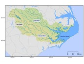 All streams, Lakes, and Rivers that drain into Tar-Pamlico then into Pamlico Sound