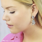 Add glam to your casual look with the Swept Away drop earrings