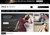 Black and Whirte Prestashop Theme