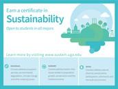 New Interdisciplinary Certificate in Sustainability