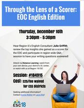 Through the Lens of a Scorer: EOC English Edition