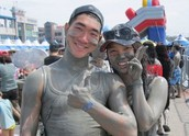 Mud wrestle while enhancing your skin