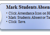 Mark Students Absent/Tardy