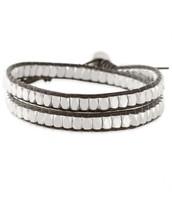 Nugget Wrap Bracelet - Silver
