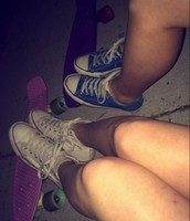 Me and Hailey taking a break from penny boarding