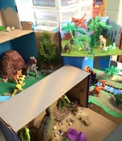 Dinosaur diorama projects in second grade
