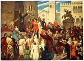 Jews preparing for the crusade