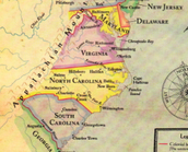 Virginia on the map