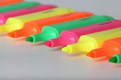 Use colored highlighters for your paper notes.