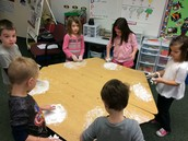 Writing Numbers in Shaving Cream