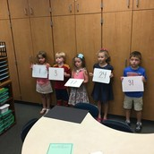 Mrs. Ward's students were creating their own birthday wall!