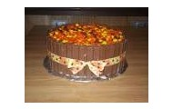 Reeses pieces cake....