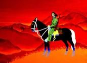 Che con un caballo