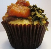 Collard greens and Cornbread Muffin