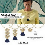 Aida Tassel Necklace $40