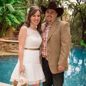Stasia and Travis on their wedding day