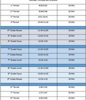 Mon - Thur Bell Schedule