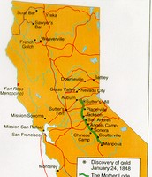 Location Of The California Gold Rush