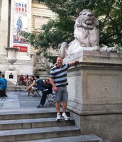 Mr. Fleischman at the NYC library
