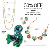 Shop these items at 50% off