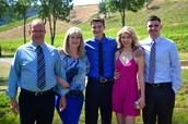 My family and I this summer at my cousin's wedding.