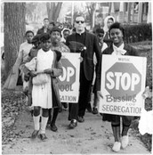 Peaceful protests to end segregation