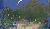 Михайловск на карте России