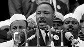 Martin Luther King Jr. giving his speech