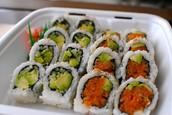 avocado roll & salmon roll