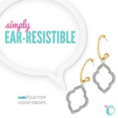 O2 Earrings are Customizable and Living just like our Lockets!
