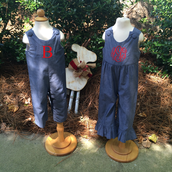 Chambray Longalls and Ruffle rompers