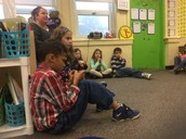 Sharing about our reading buddies