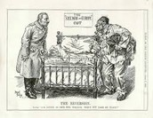 A political cartoon showing europes dominance over the old sick man of europe