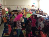 dancing with scarves!