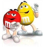 Walking and talking m&m's