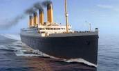 Titanic before it sank.