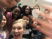 Trying to fit 26 students in one selfie is not easy!