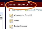 Click on content browser.