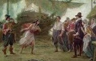 Pocahontas with the Jamestown colonists