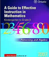 K-3 Guide To Effective Instruction (Pattering & Algebra)