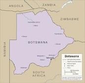 The Map of Botswana