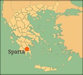 This is where Sparta is located in Greece today.