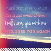 "Song #4: ""I Will See You Again"" Carrie Underwood"